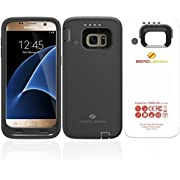 ZeroLemon Galaxy S7 7500mAh Rugged Battery Case with Soft TPU Full Edge Protection-Black(NOT for The Galaxy S7 Edge OR S7 Active)