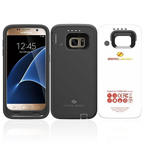 ZeroLemon Galaxy S7 7500mAh Rugged Battery Case with Soft TPU Full Edge Protection-Black(NOT for The...
