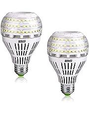 Sansi Ledlampen, E27 warmwit, 27 W (vervangt 250 W Edison gloeilamp), 4000 lm, superheldere ledlamp voor keuken, werkplaats, kantoor, garage, binnenplaats, niet dimbaar, verpakking van 2 stuks