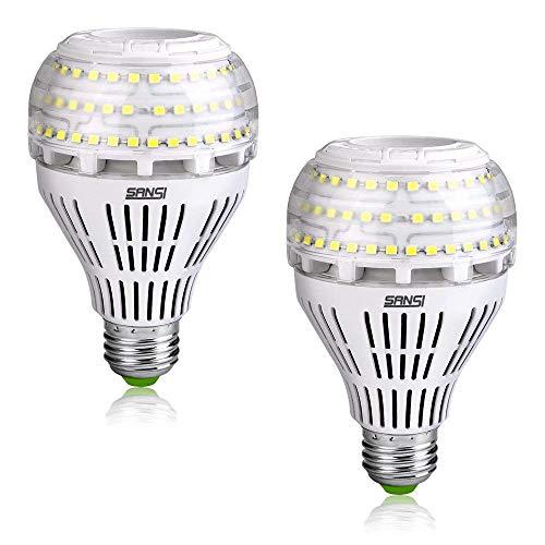 LED E27 Kaltweiss Lampe SANSI - LED Leuchtmittel 27W(ersetzt 250W Edison Glühbirne)4000lm Super Hell LED Birne für Küche,Werkstatt,Büro,Garage,Hof,Nicht Dimmbar,2er Pack