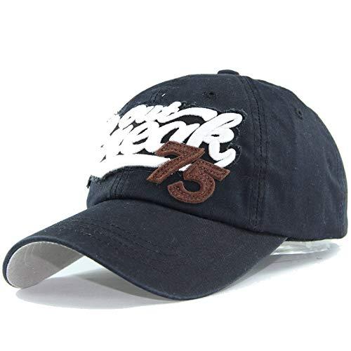 75 Gorra de béisbol Sombrero Lavado de algodón Puro Sombrero de Pareja Coreano Apliques Sombrero Informal Bordado