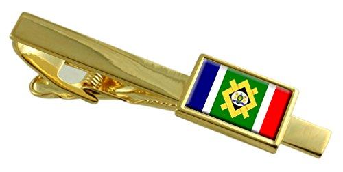 Select Gifts Stadt Johannesburg Südafrika Flagge Gold Krawattenclip