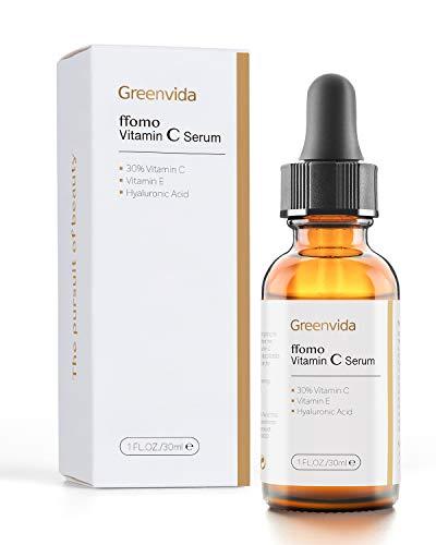 41zqMqANdAL - 30% Vitamin C Serum for Face and Skin, Anti-Aging Anti-Wrinkle Natural Face Serum with Hyaluronic Acid, Vitamin E- Fades Age Spots, Brighten Skin Tone, 1 fl oz