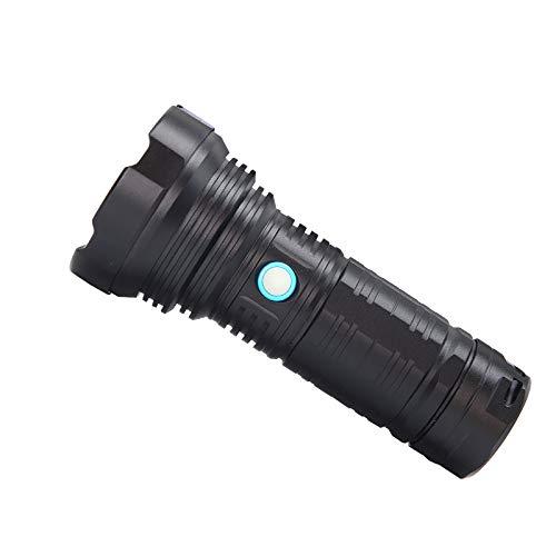 YZSL Led-zaklamp, draagbaar, met USB-aansluiting, waterdicht, multifunctioneel, geschikt voor buitenverlichting, veiligheidspatrouille, zwart