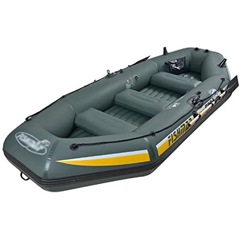 ZXQZ Kayak Kayac, Barco de Pesca, Balsas de Piscina Plegables, Bote Inflable para Exterior, 5 Personas