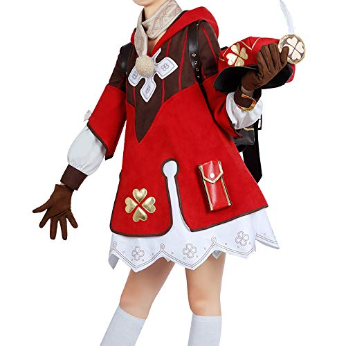 原神 モンド城 クレー コスプレ衣装 可愛い 制服 帽子付き ワンピース (男性LL)