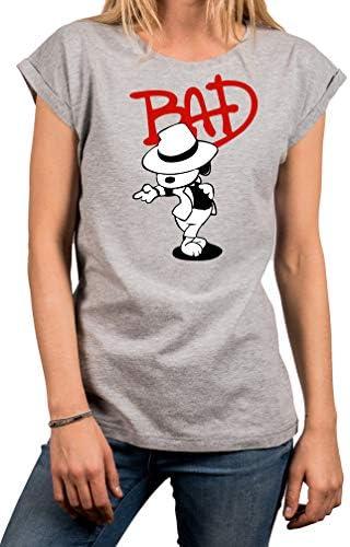 MAKAYA Camiseta para Mujer Manga Corta Casual - Snoop Jackson The Bad Dog