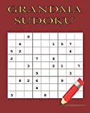 grandma sudoku: 16 Games for Sudoku Puzzles Easy to Medium : One puzzle per page with your room to work and thinking match brain training and Free Blank notes your writing short memo for Adults