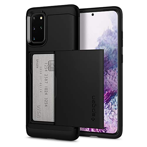 Spigen Funda Slim Armor CS, Compatible con Samsung Galaxy S20 Plus (6.7') 2020 - Negro