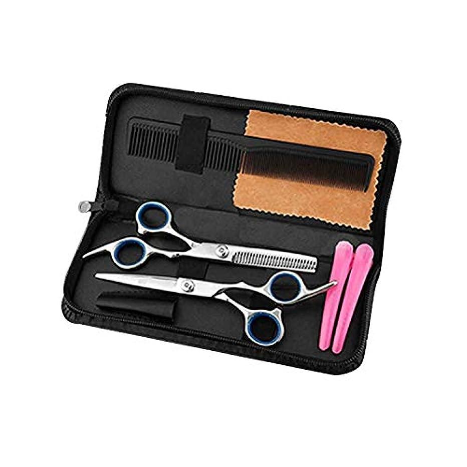 (エーアンドアイ)散髪 理容 はさみ ヘアカット スキバサミ 2本セット 収納ケース付き 美容師 散髪 すきばさみ セルフカット ゆうメール送料無料YK250