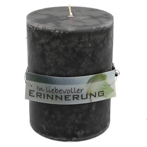 WB wohn trends Rustik Trauer-Kerze mit Duft, In liebevoller Erinnerung, Trauer-Spruch 12x8,7cm