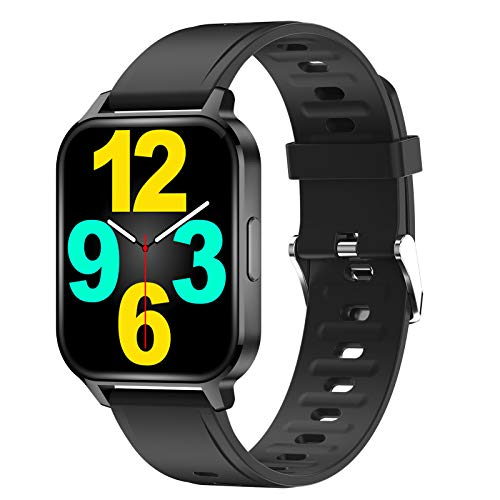 TWW Smart Watch Für Männer, Frauen, Fitness-Tracker-Telefone, wasserdichte Sportuhr IP68 Zum Zoomen Über Das Bild Rollen,Schwarz