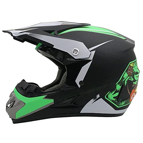 LIULIFE Casco Motocross Cascos De Cross Casco De Descenso Cascos Motocross Infantil Set Casco MTB Integral para Adulto con Design Cascos De Cross De Moto NiñOs con DiseñO Fox
