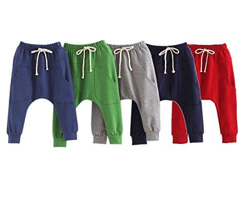 Kinder Jungen Hosen Long Pants-LOSORN ZPY Baby Sommer Baggy Harem Freizeit Sport Hose, Rot Gr. 120 (4-5Jahre)