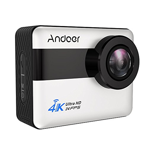 Action Camera, Andoer 4K WiFi 2.31 inch Full HD LCD Touchscreen with 20MP Novatek 96660 Chipset Suppport Gyroscope Anti-Shake 5X Zoom, 170 Wide-Angle Lens and Waterproof Hard Case