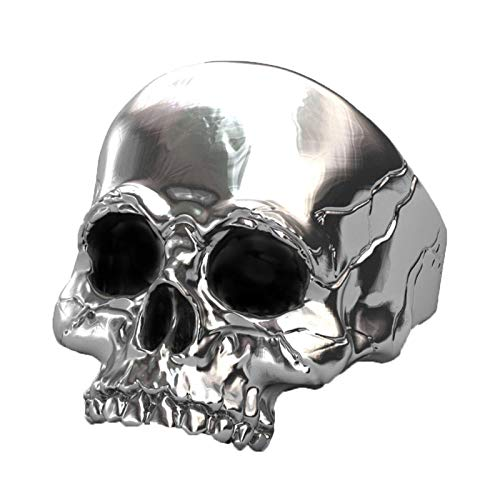 EzzySo Anillo De Cráneo De Estrellas, Personalidad Americana Dominio De La Joyería De Anillo De Aleación De Punk De Hombre (2 PCS),10
