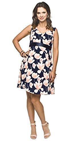 2in1 Elegantes und bequemes Umstandskleid/Stillkleid, Modell: RIPI (Alia),dunkelblau, Größe S