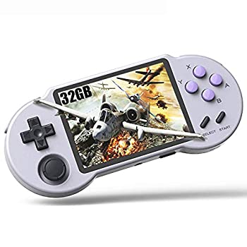 CredevZone Handheld Game Console 3.5 inch Retro Handheld Video Games Consoles Built-in Classic Games IPS Screen Rechargeable Battery Portable SNES Style Game Consoles System PocketGo-S30