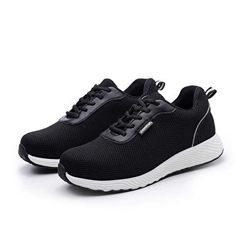 Adaskala Zapatos de Seguridad con Punta de Acero Zapatos de protección Laboral para Hombres, Mujeres, Zapatillas de Trabajo, Transpirables, Ligeras, industriales y de construcción, Negro # 41 ⭐