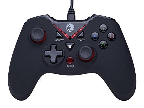 ZD IFYOO V-one Vibrations-Feedback verdrahteten USB-Game-Controller Gamepad Joystick Für PC(Windows XP/7/8/8.1/10) & PS3 & Android - [rot schwarz]