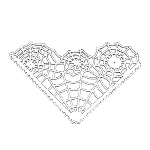 WuLi77 Spinnennetz Metal Metall Stanzschablone Die Stanzen Zum Basteln Von Karten, Prägeschablone Für Scrapbooking, DIY Album, Papier, Karten, Kunst, Dekoration