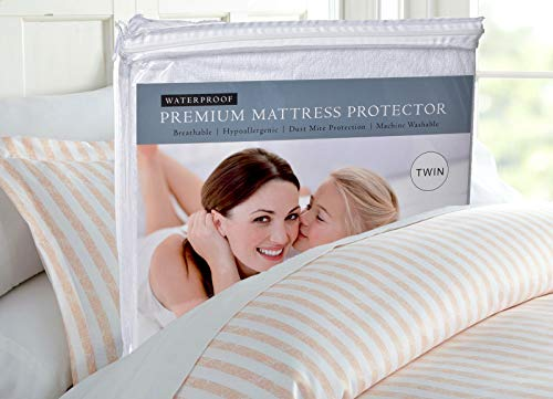 King Mattress Protector, Waterproof, Breathable, Blocks Dust Mites, Allergens, Smooth Soft Cotton Terry Cover. The Premium Mattress Protector will surely increase the life of your mattress.