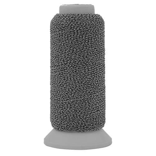Kesheng 500M Polyester Spools Reflective Nylon Sewing Embroidery Thread Roll Compatible to Sewing Machines for Hat Clothes Artcraft Making (Black, 500m)