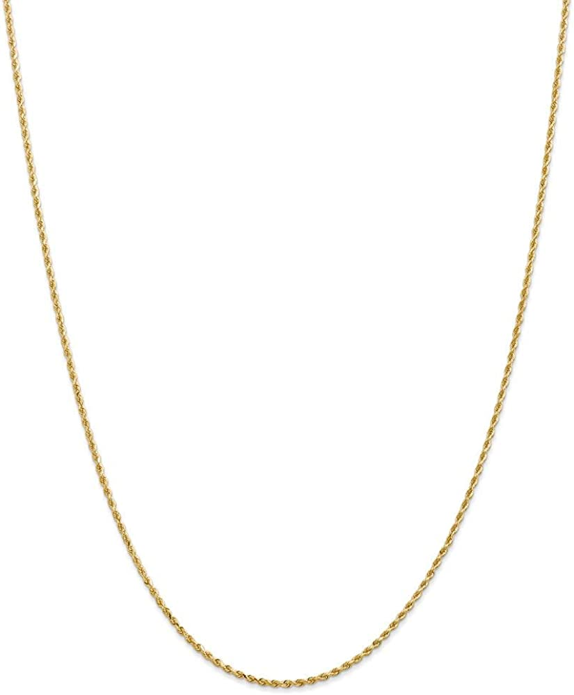 14k Yellow Gold 1.50mm Link Rope Lobster Clasp Chain Necklace 20 Inch Pendant Charm Handmade Fine Jewelry For Women Gifts For Her