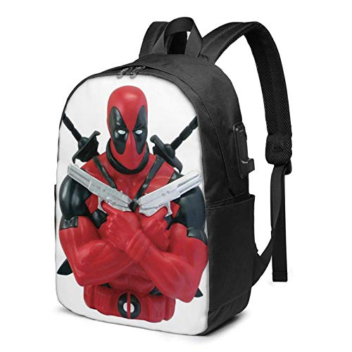 AOOEDM USB Backpack 17 in De-Ad-Po-Ol USB Backpack Carry On Bags 17 Inches Laptop Backpack for Travel School Business