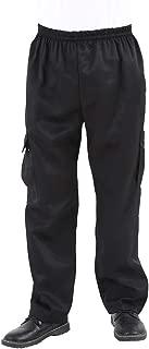 Men's and Women's Black Cargo Style Chef Pants Baggy Kitchen Uniforms Work Chef's Pants