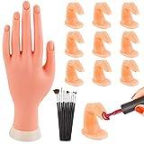 WXJ13 Kit de 10 doigts et 10 brosse à ongles pour pratiquer la manucure