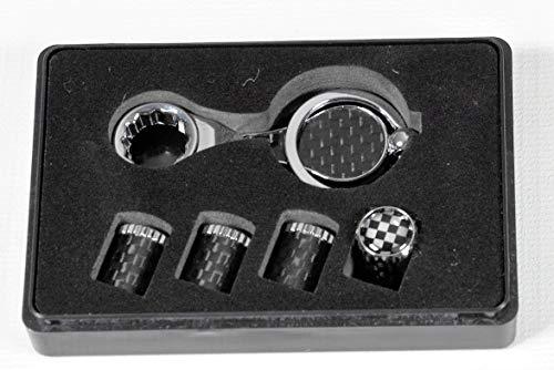 Max Auto Bouchons de valve de pneu en carbone avec protection antivol Racing Grid