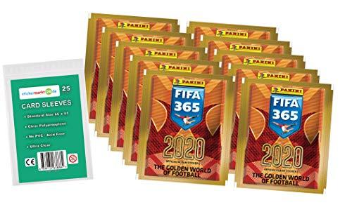365 Edition 2020 - Sticker - 10 Booster ( 50 Sammelsticker ) + stickermarkt24de Sleeves