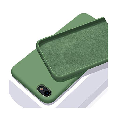 BRIEF iPhone SE Case for Apple iPhone 11 Pro MAX Cover Original Liquid Silicone Phone Case For iPhone X XR XS 5 6 6s 7 8 Plus,Black Green,For iPhone X