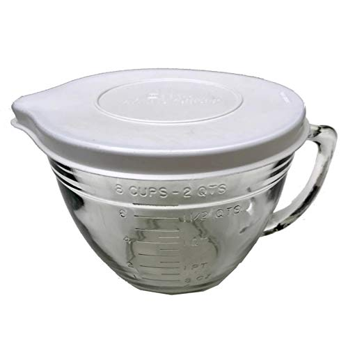 Glass Batter Bowl with Lid, 2-Quart