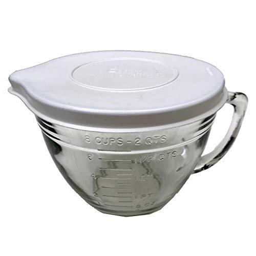 Glass Batter Bowl with Lid, 2-Quart
