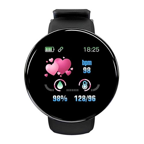 Reloj inteligente de moda para hombre y mujer, reloj deportivo, reloj de fitness, gran pantalla táctil, pulsómetro, podómetro, control de música