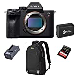 Sony a7R IV Mirrorless Digital Camera Body - Bundle with Sandisk 128GB Extreme PRO SDXC Memory Card, UHS-II Class 10 U3, Spare Battery, Lowepro m-Trekker BP 150 Backpack Black, Compact Charger