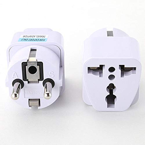 Dmtrab Universal Reino Unido EE.UU. AU a EU CA Power Socket Plug Travel Cargador Adapter Converter Conector de alimentación (Color : White)