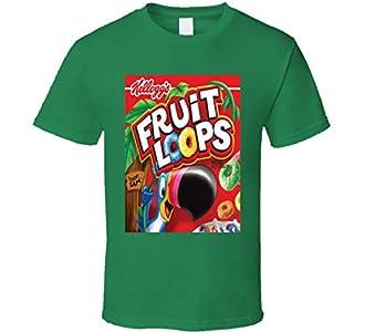 Froot Loops Cereal Alimentos Logo Regalo Camiseta Verde Irlandés