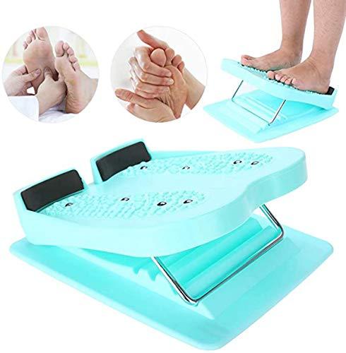 QiFun - Tabla elástica ajustable, inclinada para pantorrilla, estiramiento inclinado para el hogar, plegable, masaje de pies y piernas, adelgazamiento y fitness, tabla de pedales inclinados