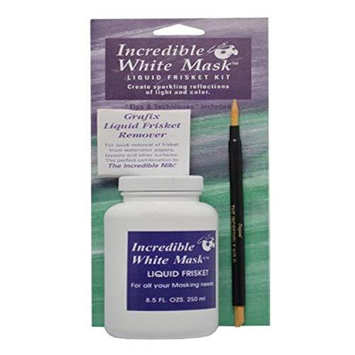 Grafix 8-1/2-Ounce Incredible White Mask Liquid Frisket Kit