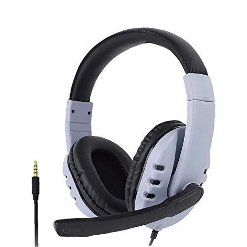nJiaMe Gaming Headset DREI-In-One Wired Headset PS5 Kopfhörer mit Mikrofon für Laptop-Tablette Smart-Phone Weiß Innen- und Außen täglichen Bedarf