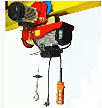 GOWE 500kg/1000KG 12M, 110V or 220V 1-Phase, All-in-one Mini Electric Wire Rope Hoist with Trolley PA Mini Block, Crane, Lifting Sling