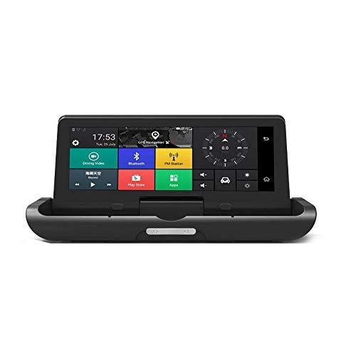 LCZB cámara de tableroCoche Plegable DVR 8 Pulgadas Dash CAM Android 5.1 GPS Cámaras De Navegación Grabadora Automática Full HD 1080P Car Recorde (4G)