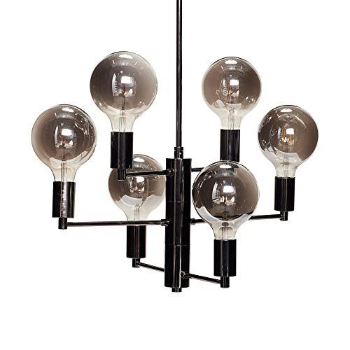 Lampe m/birne, LED Rauch/Grau Hübsch Interior - AUSLAUFARTIKEL