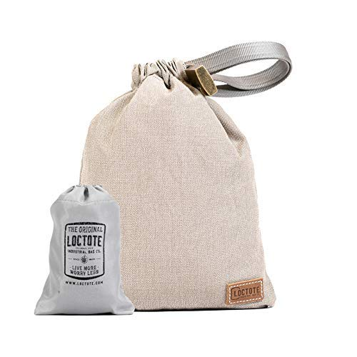 LOCTOTE AntiTheft Sack 3L - The Packable Portable Safe   Anti-theft   Lockable   Slash-Resistant (Khaki)