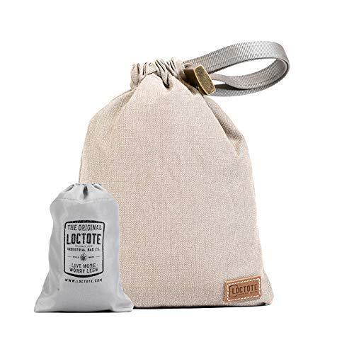 LOCTOTE AntiTheft Sack 3L - The Packable Portable Safe | Anti-theft | Lockable | Slash-Resistant...