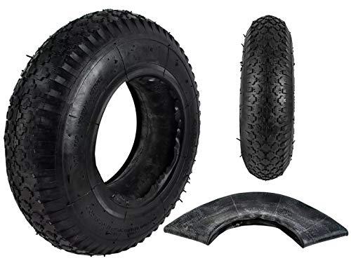 w-mtools Schubkarre Reifen mit Schlauch Set Ersatzreifen 4.80/4.00-8 2 PR Stollenprofil Reifen & Schlauch Luftrad Kettcar Anhänger Gartenwagen