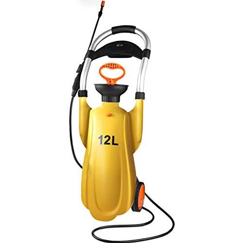 DUOER home Pulvérisateurs Mobiles, Arrosage à la Main Arrosage Pulvérisation Arrosage arrosage Double tête 12L (Color : Yellow, Taille : 26 * 93)